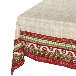 Laural Home Holiday Collection Christmas-print Tablecloth