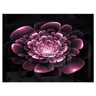 Purple Glossy Typical Fractal Flower - Large Floral Glossy Metal Wall Art