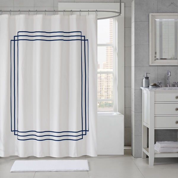 Shop Madison Park Signature Coelho Applique Shower Curtain 5-Color ...