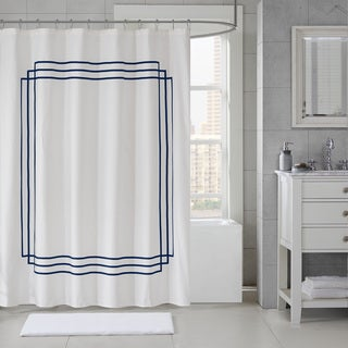Madison Park Signature Coelho Applique Shower Curtain 5-Color Option