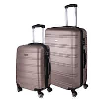World Traveler Bristol 2-piece Lightweight Expandable Hardside Spinner Luggage Set