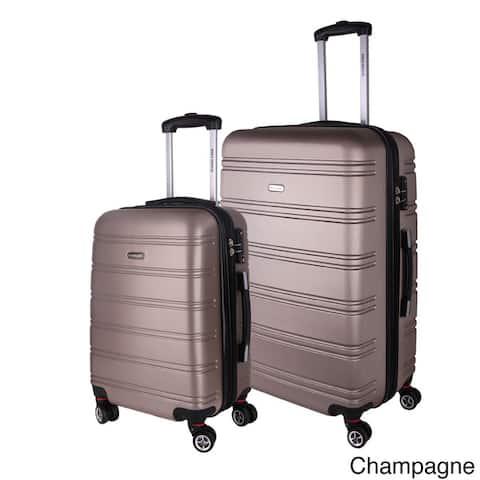 World Traveler Bristol 2-piece Lightweight Expandable Hardside Spinner Luggage Set