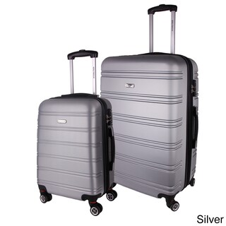 World Traveler Bristol 2-piece Lightweight Expandable Hardside Spinner Luggage Set (3 options available)