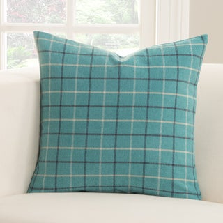 Trellis Plaid Polyester Accent Pillow