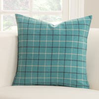 Trellis Plaid Polyester Accent Pillow