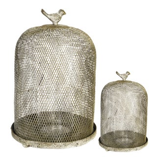Iron Mesh Candle Lanterns (Set of 2)