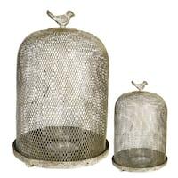Iron Mesh Candle Lanterns (Set of 2)