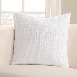 SIScovers Resort Wear White Cotton Accent Pillow (3 options available)
