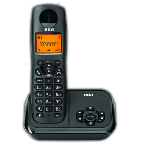 RCA DECT 6.0 Black Cordless Phone System with Answering Machine