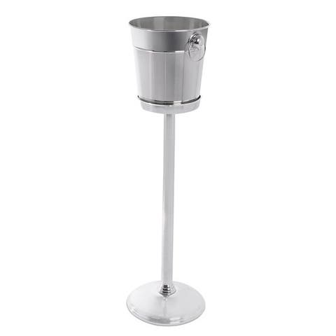 BirdRock Home Stainless Steel Wine Bucket With Stand
