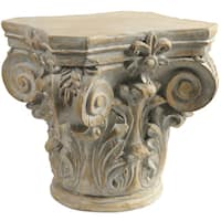 Beige Ceramic Roman Column Decorative Pedestal