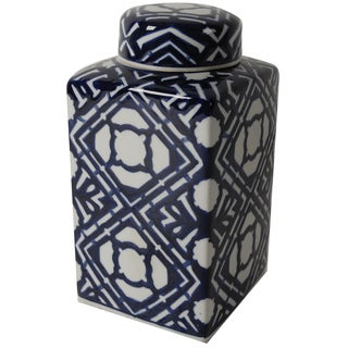 Ceramic Decorative Jar With Lid