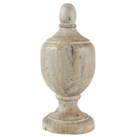 Beige Wood Decorative Finial