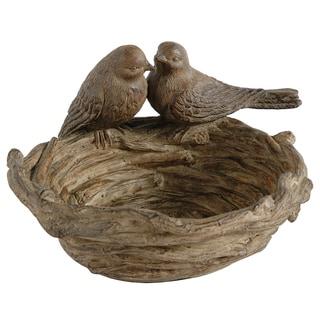 Brown Resin Bird Nest Decor