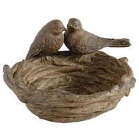 Brown Resin Bird Nest Decor