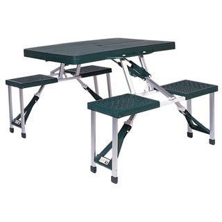 Stansport 617 Portable Picnic Table With Seat