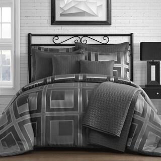 Comfy Bedding Square Pattern Jacquard 5-piece Comforter Set