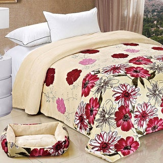 Serenta Applique Queen-size Flannel Fleece Blanket