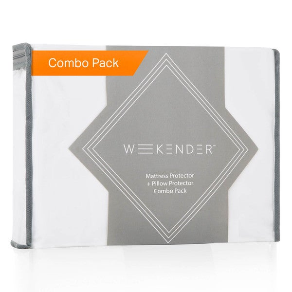 Waterproof Jersey Mattress Protector Plus Pillow Protectors Combo Pack by Weekender