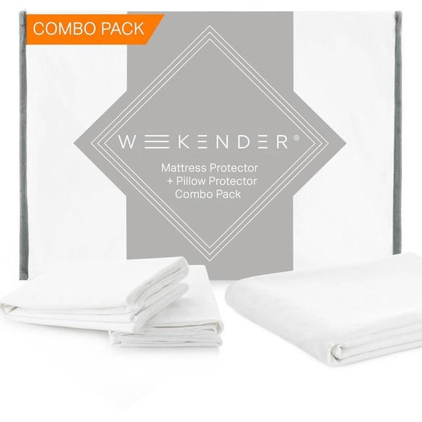 Weekender Waterproof Jersey Mattress Protector Plus Pillow Protectors Combo Pack