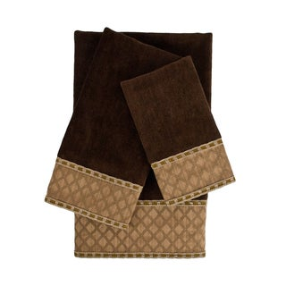Sherry Kline Pittsburgh Brown 3-piece Decorative Embellished Towel Set