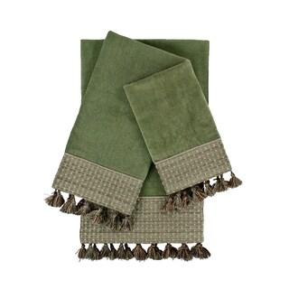 Sherry Kline Meade Sage 3-piece Decorative Embellished Towel Set