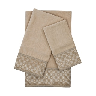 Sherry Kline Montgomery Taupe 3-piece Decorative Embellished Towel Set