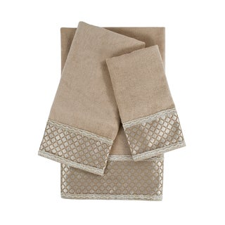 Sherry Kline Manor Taupe 3-piece Decorative Embellished Towel Set