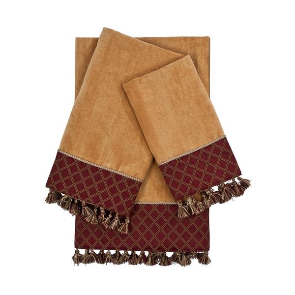 Sherry Kline Brenda Nugget 3-piece Decorative Embellished Towel Set