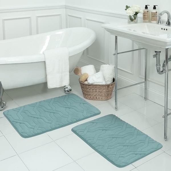 Drona Memory Foam 17 x 24-inch Bath Mat with BounceComfort Technology