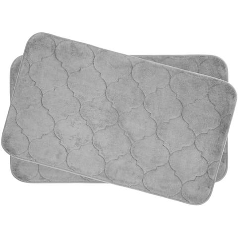 Faymore Memory Foam 17 x 24-inch 2-piece Bath Mat Set with BounceComfort Technology