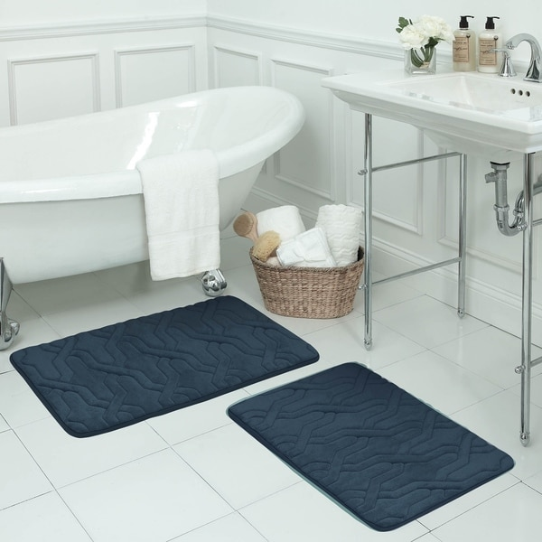 Drona Memory Foam 2-piece Bath Mat Set with BounceComfort Technology