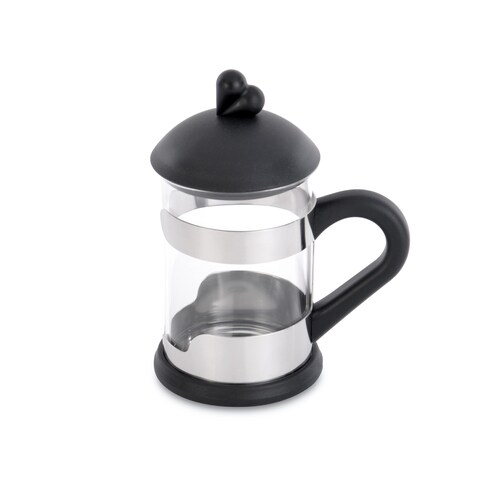 Lover by Lover Black Glass/Stainless Steel Tea Cup Set (2-piece Set)