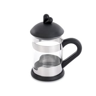 Lover by Lover Black Glass/Stainless Steel Tea Cup Set (2-piece Set) (Option: Black)|https://ak1.ostkcdn.com/images/products/12778804/P19552273.jpg?impolicy=medium