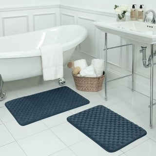 Massage Memory Foam 17x24 2-piece Bath Mat Set with BounceComfort Technology