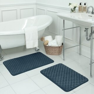 Massage Memory Foam 17 x 24-inch 2-piece Bath Mat Set with BounceComfort Technology