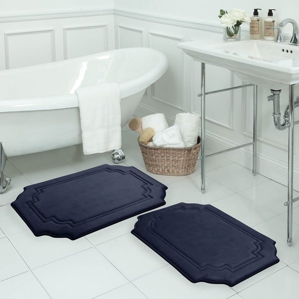 Calypso Memory Foam 20 x 32-inch Bath Mat with BounceComfort Technology
