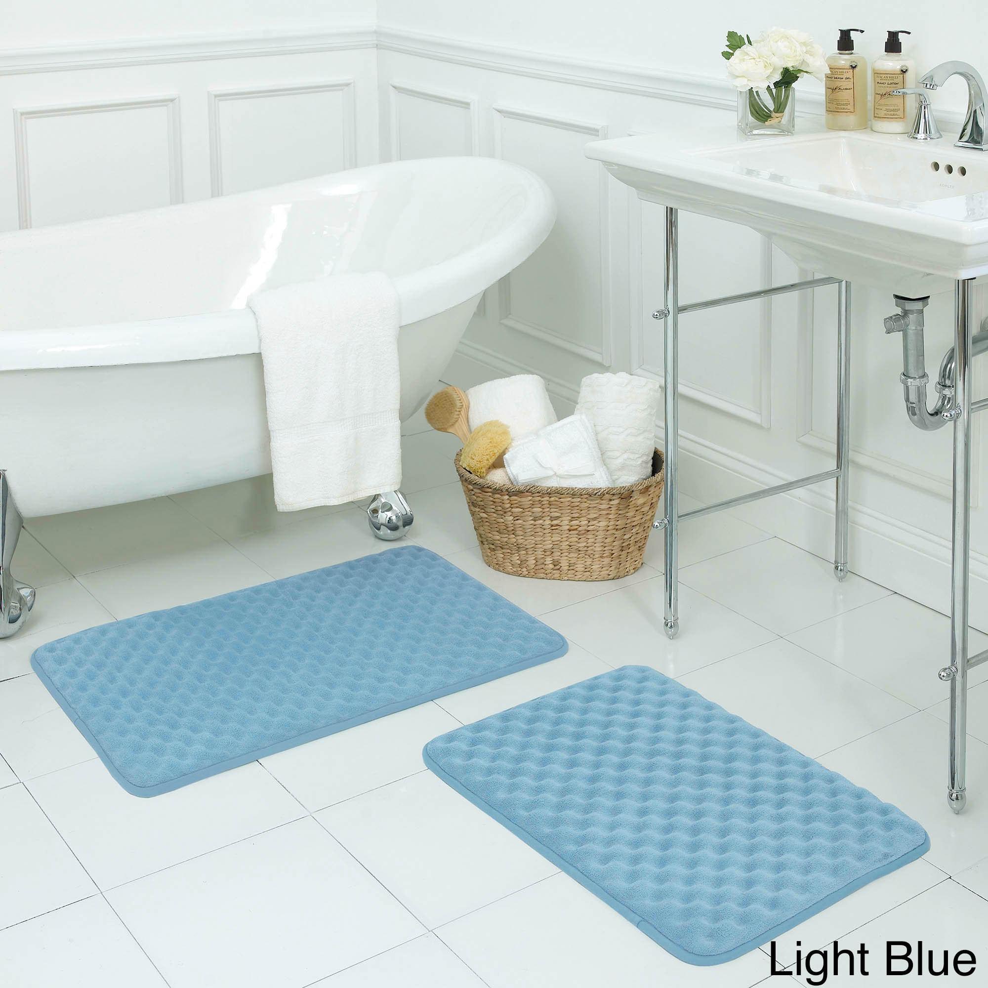 Massage Memory Foam 2-piece Bath Mat Set with BounceComfo...