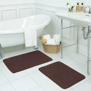 Massage Memory Foam 2-piece Bath Mat Set with BounceComfort Technology