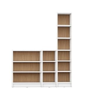 Manhattan Comfort Greenwich Wood 3-piece Bookcase