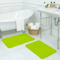 Waves Memory Foam 2-piece Bath Mat Set with BounceComfort Technology