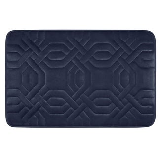 Chain Ring Memory Foam 20 x 32-inch Bath Mat with BounceComfort Technology