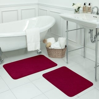 Naoli Micro Plush 17 x 24-inch 2-piece Memory Foam Bath Mat Set with BounceComfort Technology