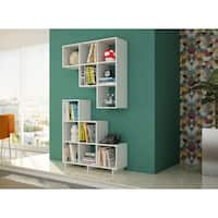 Accentuations by Manhattan Comfort Sophisticated Cascavel Stair Cubby With 6 Cube Shelves (Set of 2)