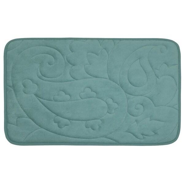 Pelton Micro Plush 20 x 32-inch Memory Foam Bath Mat with BounceComfort Technology