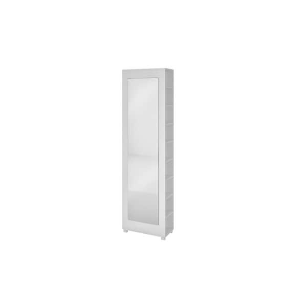 Manhattan comfort valencia 2 0 accentuations white 9 shelf for Full length mirror with shelf
