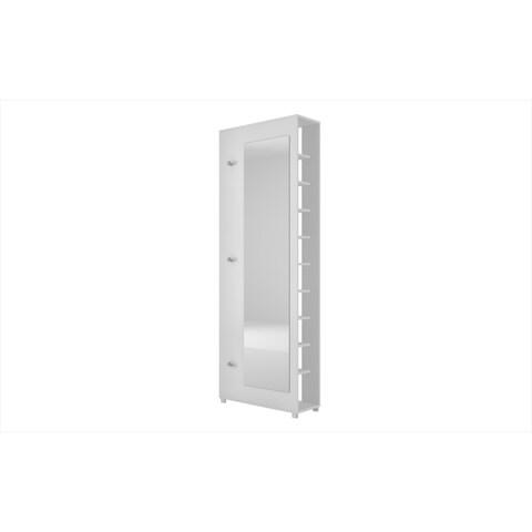 Manhattan Comfort Accentuations Valencia 1.0 10-shelf 3 Hooks Full-length Mirror Shoe Closet