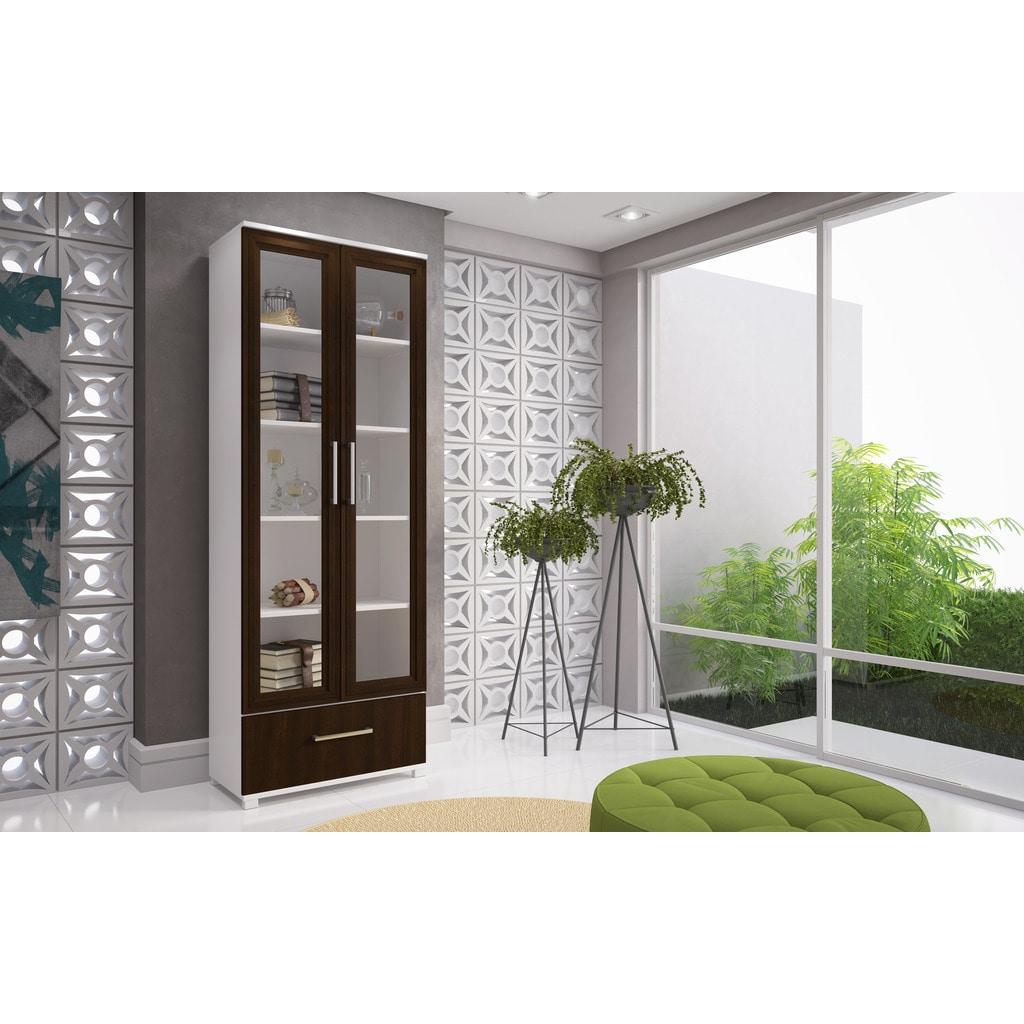 Manhattan Comfort Serra 1.0 Barrister Bookcase - 75AMC66