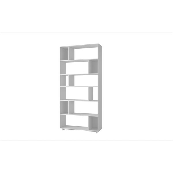 Manhattan Comfort Accentuations Maringa White 12-shelf