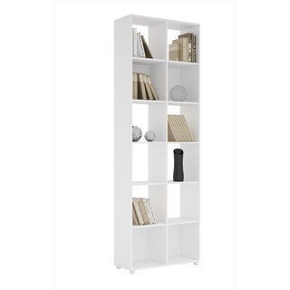 Manhattan Comfort Accentuations Natal 1.0 White 12-shelf Bookcase